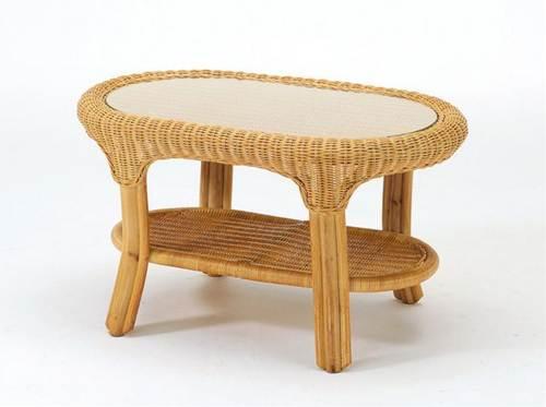 丹念に編み込まれたラタンの美しい素材感を楽しむことができるテーブルです。 テーブル 籐製 送料無料