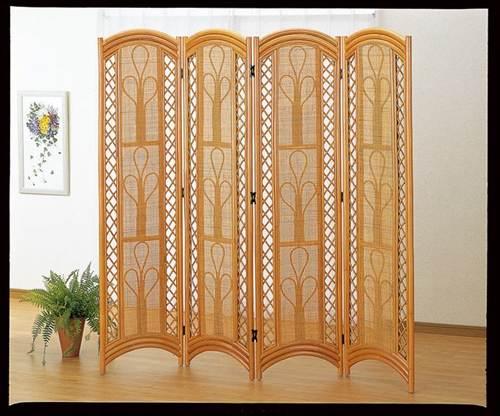 落ち着きのあるデザインでお部屋にくつろぎの雰囲気を演出。 スクリーン4パネル ブラウン色 オフィス家具 パネル・パーテーション 送料無料