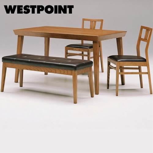 【送料無料】メンズ雑誌でも絶賛!男のダイニング4点セット(テーブル1台・チェア2脚・ベンチ1台) ブラックの座面・エッジの効いたテーブル・ワイルドな木目!