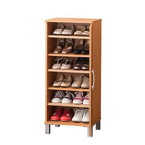 ワンドアシューズボックス 幅45cm 靴12足収納 スリムで省スペース靴箱 下駄箱【送料無料】【代引不可】