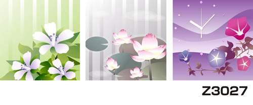 日本初!300種類以上のデザインから選ぶパネルクロック◆3枚のアートパネルの壁掛け時計◆hOur DesignZ3027あじさい【イラスト】【花】【アジア】【代引不可】 送料無料