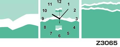 日本初!300種類以上のデザインから選ぶパネルクロック◆3枚のアートパネルの壁掛け時計◆hOur DesignZ3065【アート】【代引不可】 送料無料