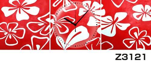 日本初!300種類以上のデザインから選ぶパネルクロック◆3枚のアートパネルの壁掛け時計◆hOur DesignZ3121【アート】【花】【代引不可】 送料無料