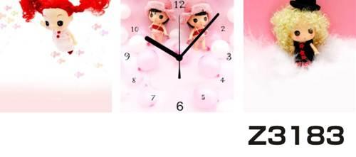 日本初!300種類以上のデザインから選ぶパネルクロック◆3枚のアートパネルの壁掛け時計◆hOur DesignZ3183女の子 【イラスト】【代引不可】 送料無料