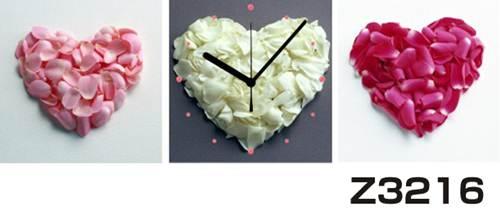 日本初!300種類以上のデザインから選ぶパネルクロック◆3枚のアートパネルの壁掛け時計◆hOur DesignZ3216花びら【アート】【花】【代引不可】 送料無料