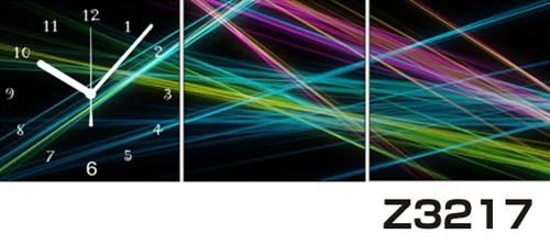 日本初!300種類以上のデザインから選ぶパネルクロック◆3枚のアートパネルの壁掛け時計◆hOur DesignZ3217光線【アート】【代引不可】 送料無料