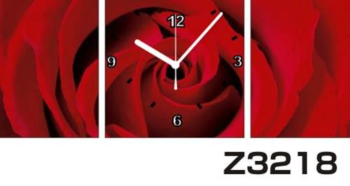 日本初!300種類以上のデザインから選ぶパネルクロック◆3枚のアートパネルの壁掛け時計◆hOur DesignZ3218【アート】【花】【代引不可】 送料無料
