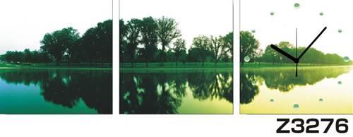 日本初!300種類以上のデザインから選ぶパネルクロック◆3枚のアートパネルの壁掛け時計◆hOur DesignZ3276【アート】【風景】【自然】【代引不可】 送料無料