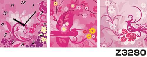 日本初!300種類以上のデザインから選ぶパネルクロック◆3枚のアートパネルの壁掛け時計◆hOur DesignZ3280【花】【代引不可】 送料無料