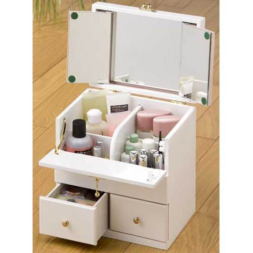 Attirant With Triple Mirror Compact Mac BOX (box Makeup Cosmetic BOX With Mirrors  With Triple Mirror Storage Capacity) Makeup Box Makeup Units Makeup Makeup  Box ...