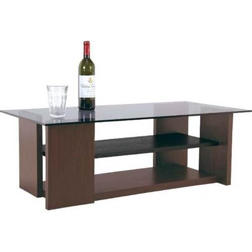 テーブル「SO-100BR」 8mm強化ガラスのセンターテーブル ガラステーブル 【送料無料】 棚付き ガラス テーブル ガラステーブル センターテーブル リビングテーブル コーヒーテーブル ガラス テーブル ガラステーブル テーブル ローテーブル 送料無料 新生活 引越