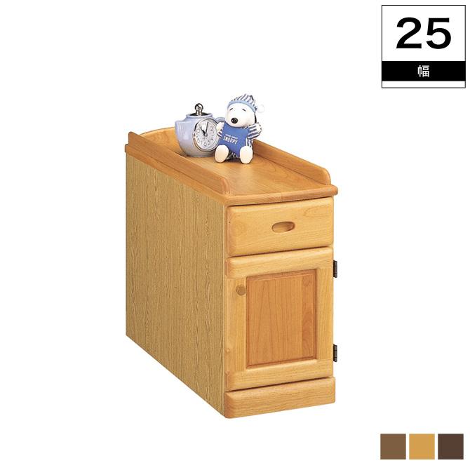 天板のサイドを高くしたズレ落ち防止機能付き スリムナイトテーブル幅25cm(扉) 木製 おしゃれ ベッドテーブル ベッド 薄型設計のスリムナイトテーブル 北欧 シンプル 日本製 引出し・扉タイプ ベッドサイドテーブル ナイトテーブル サイドテーブル 木製