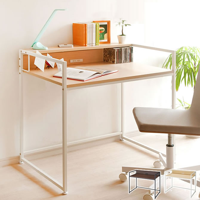There is a narrow with PC desk 120cm in width type small shelf two shares  outlet; a shelf steel frame [collect on delivery impossibility] of the ...