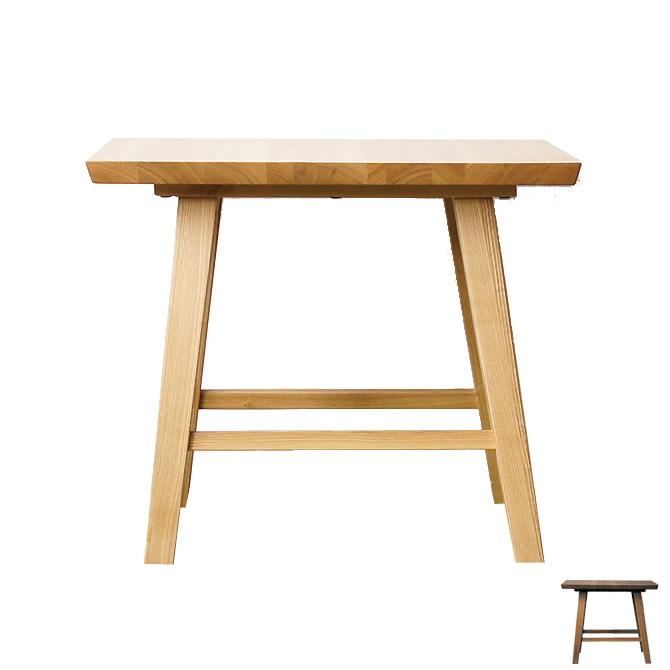 コーナーテーブル 正方形 木製 天然木タモ材 ナチュラル ブラウン テーブル [送料無料]