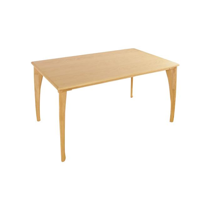 北欧調 木製ダイニングテーブル 130cm BOSCO +plus「Krone」クローネ ダイニングテーブル 天然木 の素材感 ダイニング リビング ホワイトオーク材 家族 食卓 カラー「ナチュラル」と「ライトブラウン」2色展開 Dining Table