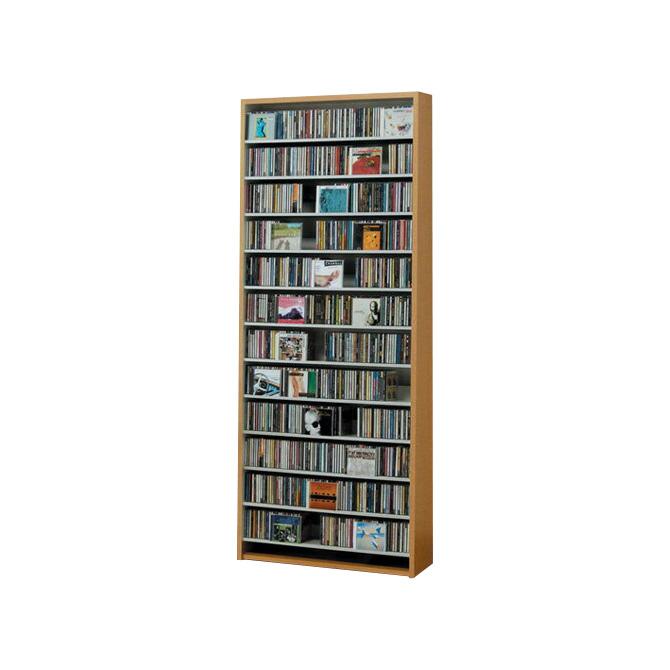 CDラック CDストッカー 幅80×奥行26.5×高さ197.5cm CD収納 収納棚【送料無料】【日本製】DVDラック DVD収納 大量 大容量 CDラック AVラック CD収納 CDストッカー ディスプレイラック 大収納 AV収納【代引不可】 送料無料