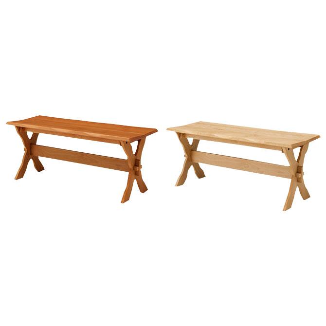 ベンチ ダイニング 天然木アルダー無垢材 ダイニングベンチ 木製ベンチ 長椅子 リビング 玄関 ナチュラルカントリースタイル [日時指定不可][代引不可][大型配送便] 送料無料