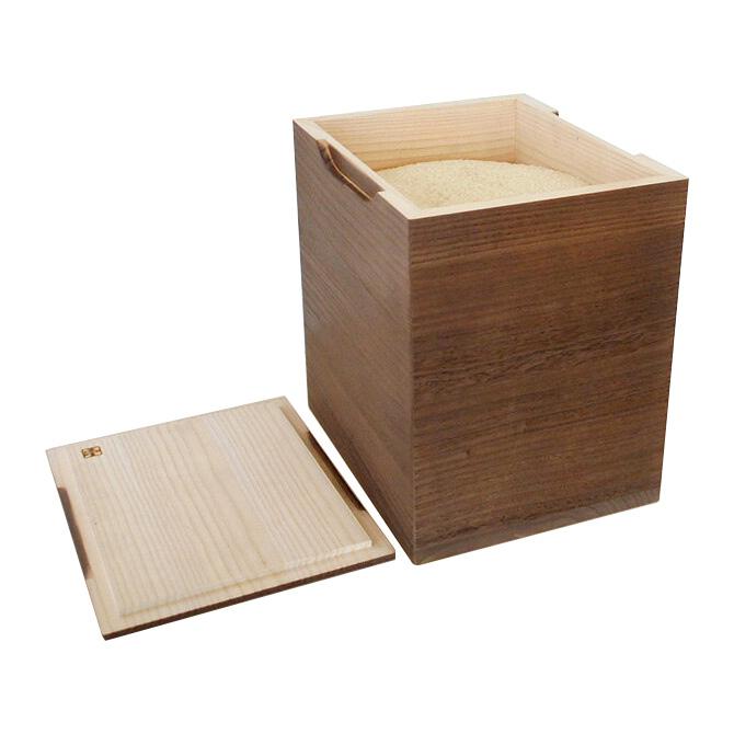 米びつ 桐 米びつ 20kg 焼桐 国産 日本製 【1合升とすりきり棒つき】 米びつ 桐 20kg 米びつ 米櫃 こめびつ 桐 桐製 米びつ 木製 [送料無料]