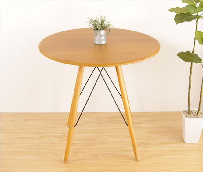 テーブル カフェテーブル ルクロ ナチュラル 木製 円形 ラウンドテーブル アルダー材 直径75cm 高さ72cm 円テーブル コーヒーテーブル 北欧家具 リビングテーブル ダイニングテーブル 丸テーブル
