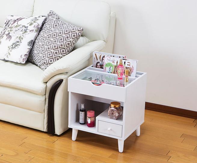 メイクボックス 化粧台 ミニコスメテーブル 脚付 木製 化粧ボックス メイク スライドテーブル 引出し 収納 化粧品 コンパクト おしゃれ コスメボックス コスメBOX