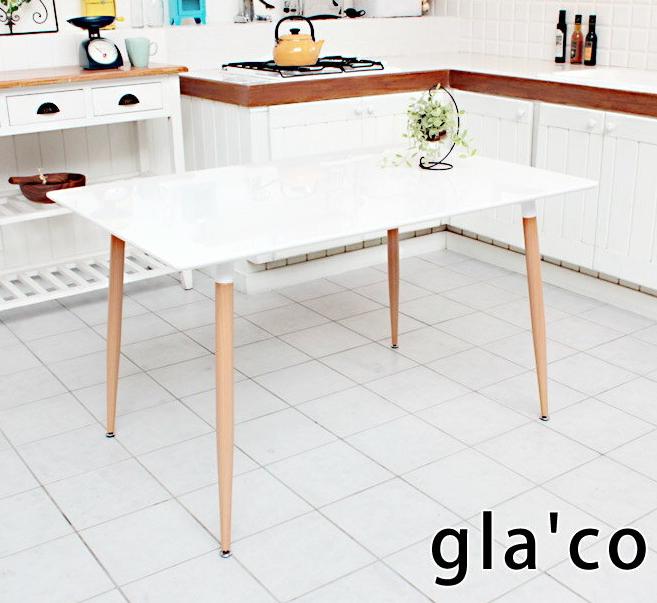 ダイニングテーブル 食卓 幅120cm テーブル ダイニングテーブル 食事テーブル 北欧風 ガラコ120 ダイニング 作業テーブル 作業机 食卓テーブル 長方形 アジャスター付 お手入れが楽なテーブル ホワイト 高さ70cm シンプル 北欧風 引越し 新生活 新居 一人暮らし