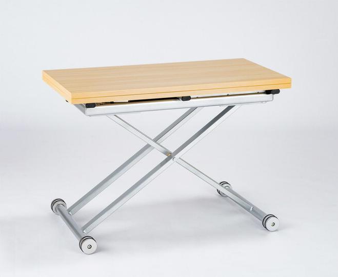 昇降式テーブル スモールサイズ 高さ34~74cm 全14色 無段階ガス圧式 天板が2倍に広がるリフティングテーブル | リビングテーブル ダイニングテーブル ローテーブル センターテーブル 伸長式 伸縮式テーブル 天板折りたたみ