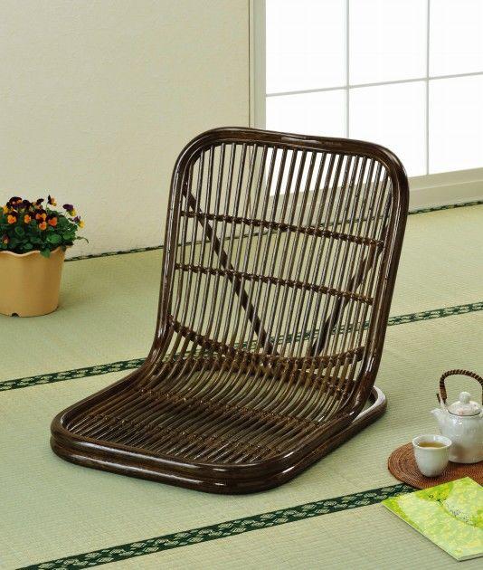 お気に入りの座布団をのせてご使用いただけます。 座椅子 イス・チェア 籐製
