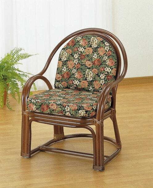 素材の良さが映えるシンプルなデザイン。 アームチェアー イス・チェア 座椅子 籐製 送料無料