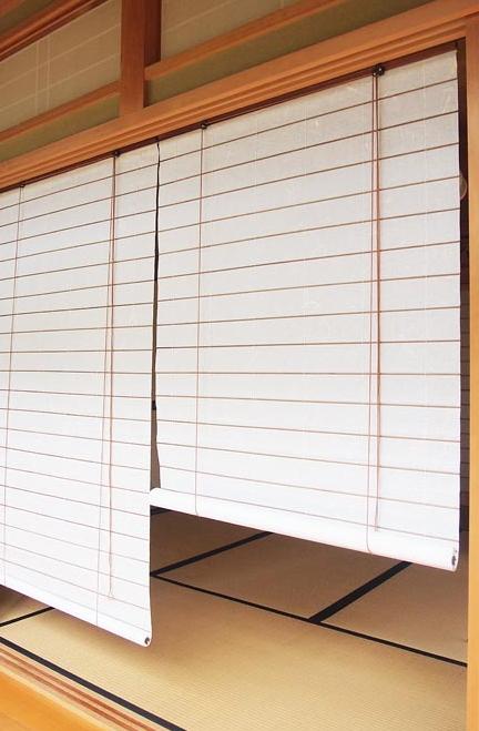 和紙調スクリーン 幅180×高さ約180cm RH-1190W 吸湿効果 目隠し 丈夫 空気洗浄作用 間仕切り ロールアップ 和紙 巻上タイプ 和室 洋室 リビング ロールスクリーン 窓用