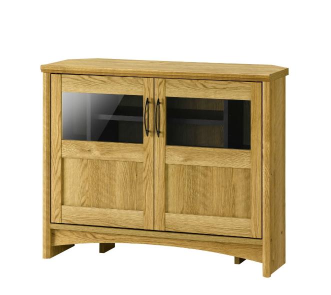 テレビ台 ハイコーナーTV台 幅80cm 高さ65cm カントリー調 木製 ミドルTV台 コーナーボード 寝室 ダイニング テレビボード