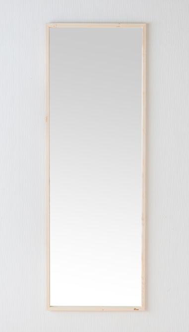 \ポイントアップ祭★8/22 10:00~8/25 23:59まで/ 鏡 天然木 スタンドミラー ジャンボミラー 幅約54cm 高さ約155.4cm Foresta フォレスタ 姿見 レッドパイン 木製フレーム ドレスアップミラー 赤松