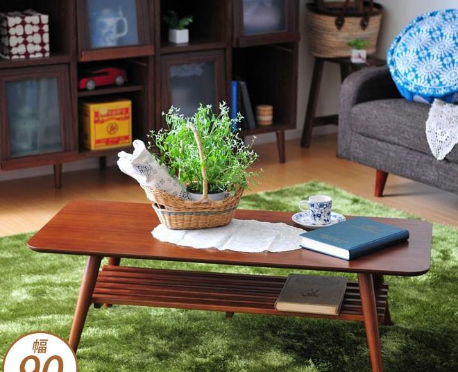 センターテーブル 棚付 ダークブラウン 幅90cm 折れ脚 リビングテーブル スクエア 長方形 ローテーブル 木製 折りたたみテーブル 折り畳みテーブル センターテーブル リビングテーブル ローテーブル カフェテーブル コーヒーテーブル 木製 シンプルナチュラル カントリー調
