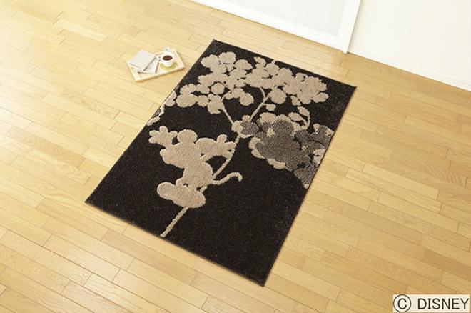 ミッキー フライシャドー ラグ Disney Mickey Fly shadow rug DRM-1017 140×200cm (送料無料) (代引不可)日本製 防ダニ 耐熱加工 F☆☆☆☆ RUG ディズニープレミアムコレクション カーペット 絨毯 じゅうたん 送料無料
