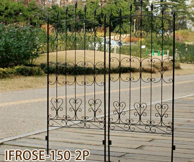 ガーデニング フェンス アイアンローズフェンス150 2枚組 (IFROSE-150-2P)簡単設置 ガーデンフェンス アイアン 柵 庭 園芸 エクステリア ローズ 薔薇 バラ