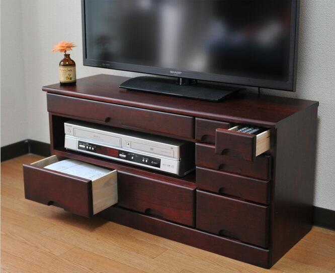 テレビ台 ローボード 天然木 総桐製 78×28×38cm テレビ台 完成品 引き出し 8杯 収納 木製 テレビボード 完成品 ロータイプ 和モダン ブラウン
