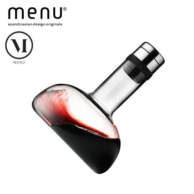 北欧雑貨 menuシリーズ ワインブリーザー カラフェ 21.5cm ワイングッズ ワイン用品 カラフェ エアレーション ガラス シリコン ステンレス