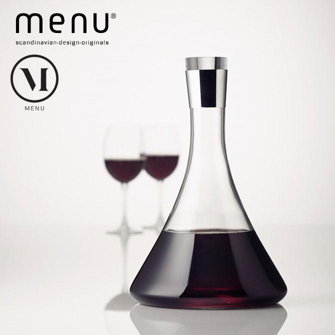 北欧雑貨 menuシリーズ ワインデキャンタ ワイングッズ ワイン用品 ステンレススチール ガラス キッチンインテリア