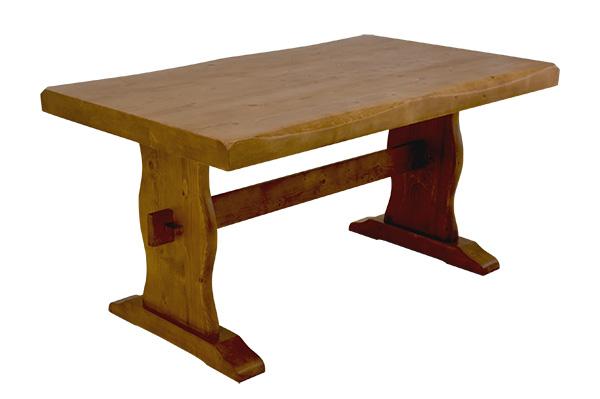 ワイド 天然木 ダイニングテーブル 木製 シンプルテーブル浮造りダイニングテーブル135cm幅 送料無料