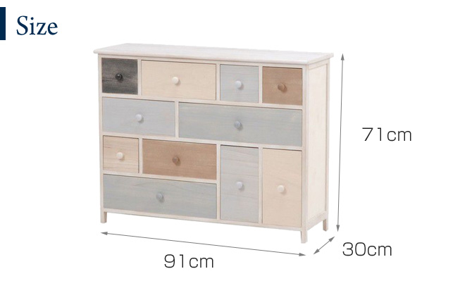 ... Low 11 Cup Drawer Antique Shabby Chic Feuille Chest (big) Width 91  Depth 30 ...