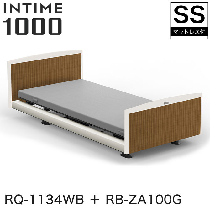 【非課税 RQ-1134WB +】 INTIME1000 パラマウントベッド インタイム1000 電動ベッド マットレス付 セミシングル 1+1モーター ヨーロピアン(ホワイトスパークル) ラウンド(マットホワイト) ミディアムウォールナット グレイクス INTIME1000 RQ-1134WB + RB-ZA100G, ナチュラルノート:59732ded --- apps.fesystemap.dominiotemporario.com