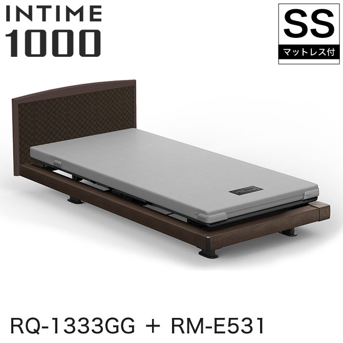 【非課税】 パラマウントベッド インタイム1000 電動ベッド マットレス付 セミシングル 3モーター ハリウッド(グレーアブストラクト) ラウンド(マットグレー) グレーアブストラクト カルムコア INTIME1000 RQ-1333GG + RM-E531