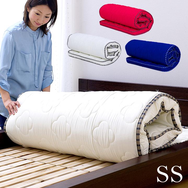 【5年保証】丸められるポケットコイルマット SS 高品質 薄型マットレス ねごこっち[シングルショート] ポケットコイル 柔らか マットレス 二段ベッド用 三段ベッド用 システムベッド用
