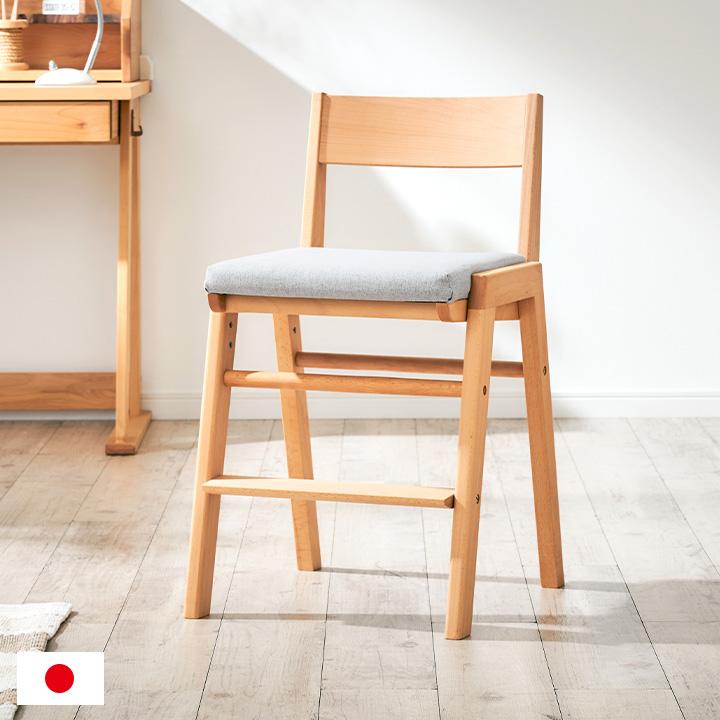【国産/完成品/天然木レッドオーク材使用/高さ調整機能】学習チェア SPICA(スピカ) レッドオーク 学習椅子 勉強椅子 勉強チェア デスクチェア リビングチェア 椅子 イス いす 木製 子供部屋 杉工場 (大型)