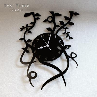 時計 Ivy Time(アイビータイム) ツタ時計 time 壁掛け デザイナーズ ユニーク 置時計 とけい お洒落 おしゃれ オシャレ インテリア