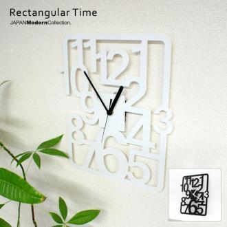 掛け時計 Rectangular Time time 壁掛け デザイナーズ ユニーク 置時計 とけい お洒落 おしゃれ オシャレ インテリア クロック