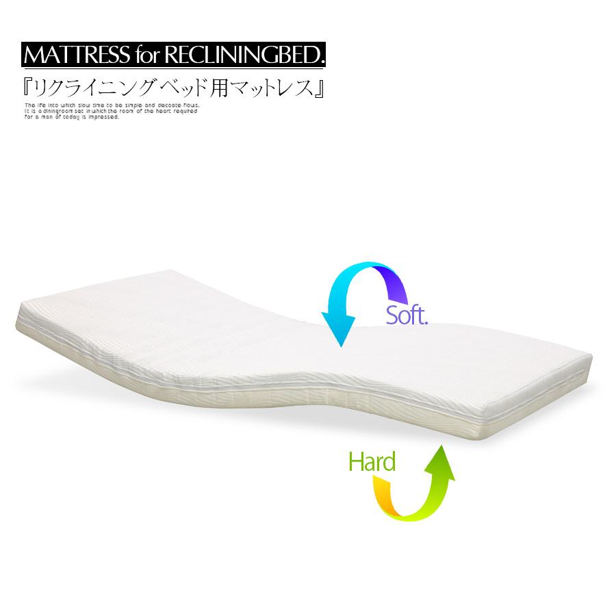 【クーポン配布中】マットレス リバーシブル ベッドマット 電動ベッド用 リクライニングベッド用 シングル 介護 大人用