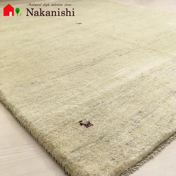 【ギャッベラグ 約1.5畳 約147×199cm スノーマン(1630)】GABBEH・ギャッペ(ギャべ)・イラン製・カーペット・ラグ・絨毯(じゅうたん)・ナチュラル系