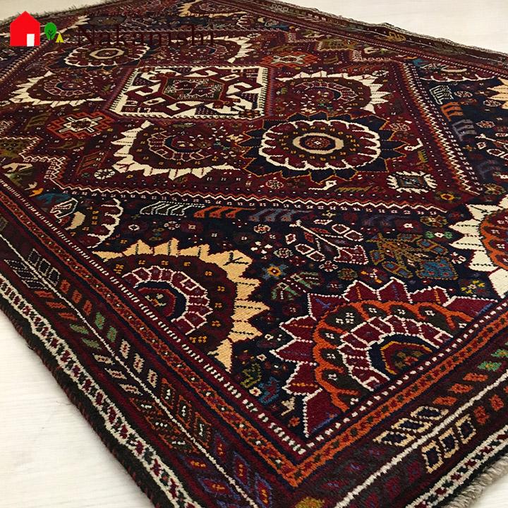 【ギャッベラグ シラーズ NT11274 オールド】GABBEH・ギャッペ(ギャべ)・イラン製・カーペット・ラグ・絨毯(じゅうたん)・約120×187cm・レッド系