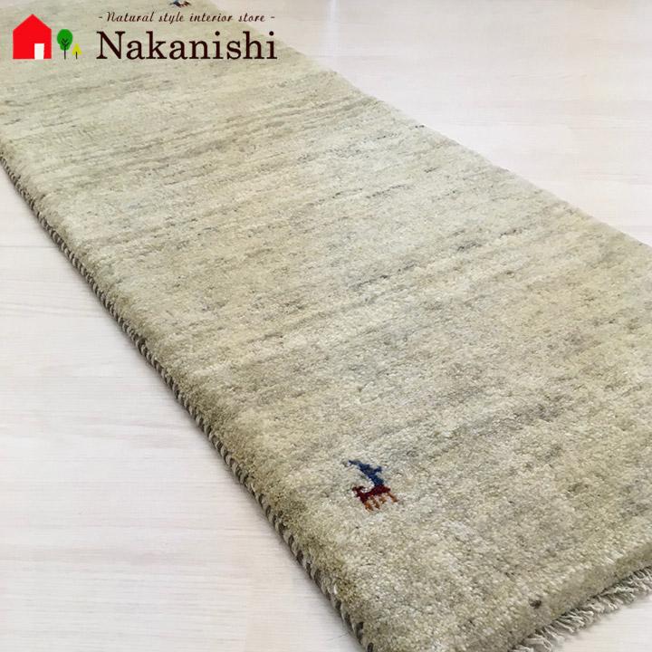【ギャッベ ランナー 約52×149cm Natural gabbeh part 20】GABBEH ギャッベ(ギャベ)・イラン製・ロング・ランナー・キッチンマット・絨毯(じゅうたん)・カーペット・ラグ・ナチュラル・アイボリー