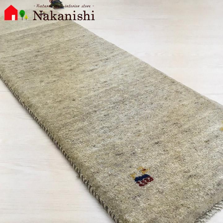 【ギャッベ ランナー 約41×124cm Natural gabbeh part 24】GABBEH ギャッベ(ギャベ)・イラン製・ロング・ランナー・キッチンマット・絨毯(じゅうたん)・カーペット・ラグ・ナチュラル・アイボリー・ベージュ